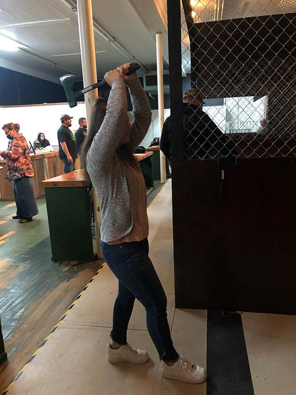 Axe Throwing Stance